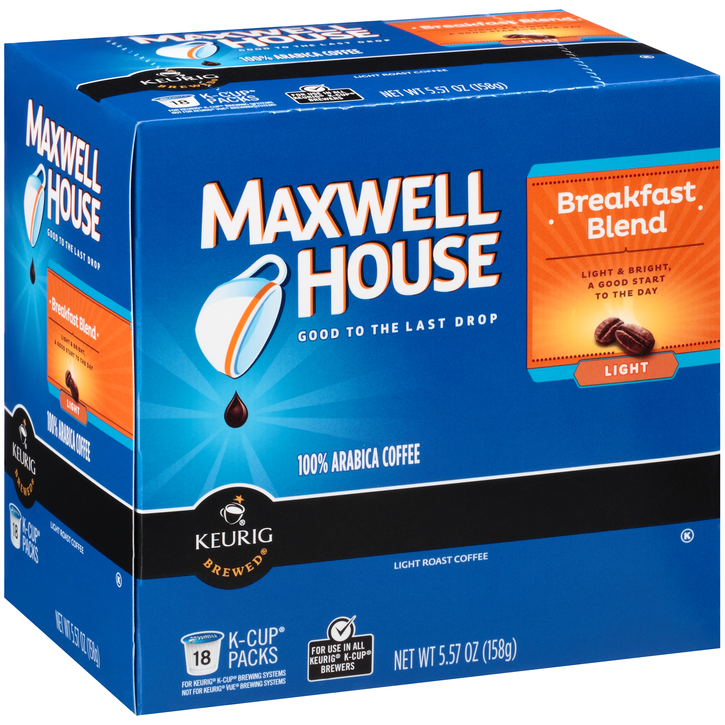 Maxwell House Breakfast Blend Coffee K-Cup® Packs 18 ct Box