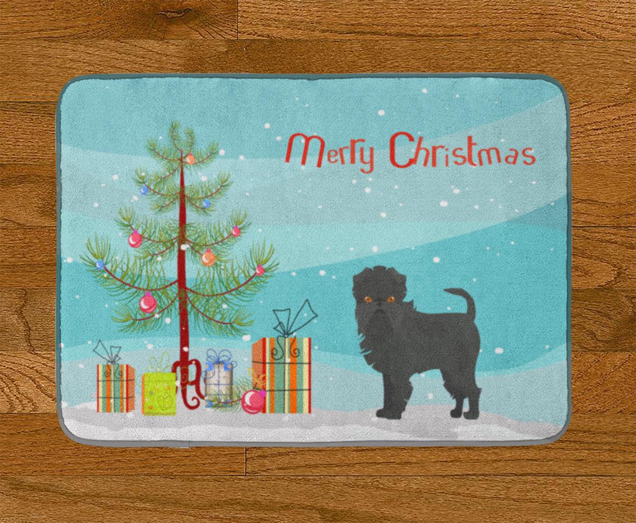 Carolines Treasures Affenpinscher Merry Christmas Tree Floor Mat 19 x 27 Multicolor