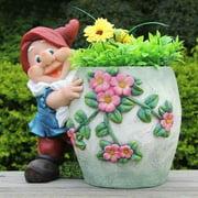 SINTECHNO Cute Gnome Hugs Green Flower Pot Planter