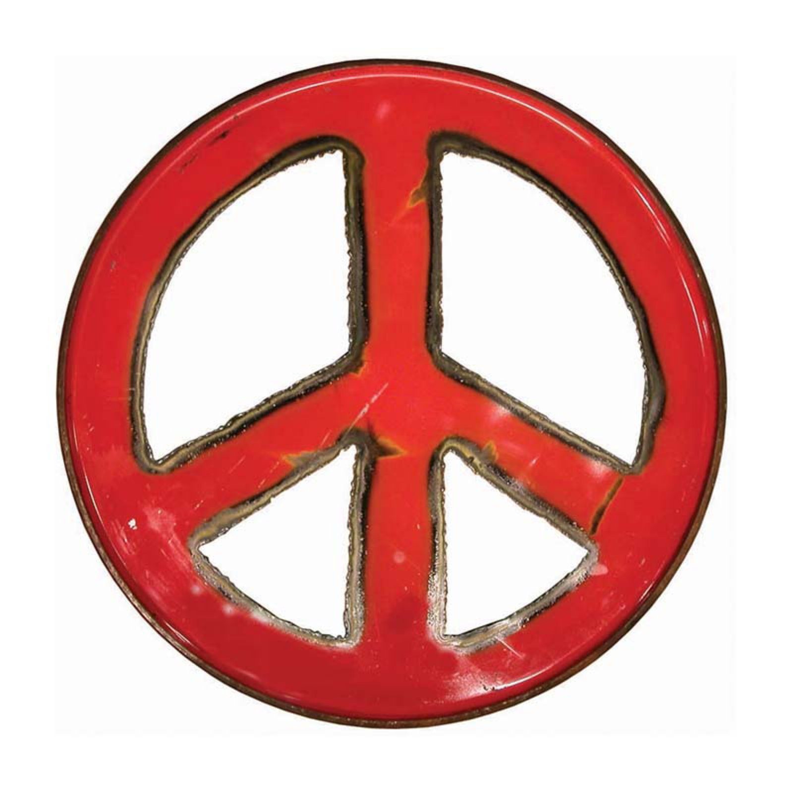 Groovystuff Metal Peace Sign Wall Art