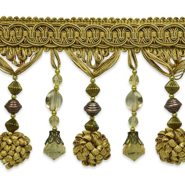 Expo Int'l 5 yards of Preshea Decorative Beaded Fringe Trim