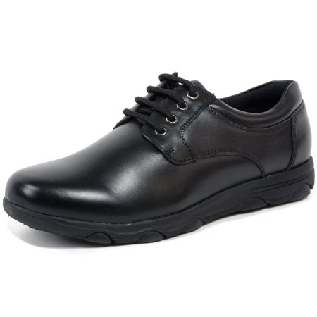 Alpine Swiss Napa Mens Work Shoes Slip Resistant Genuine Leather Lace Up Oxfords