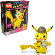 Mega Construx Pokemon Detective Pikachu Detective Pikachu Construction Set with character figures, Building Toys for Kids (271 Pieces)