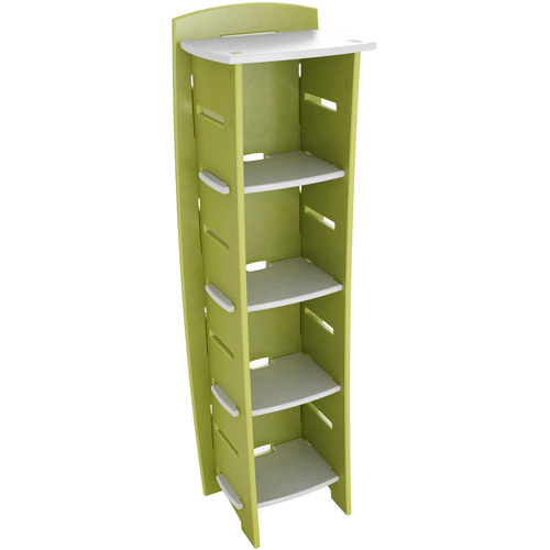 No Tools Assembly - Bookcase, Green and White