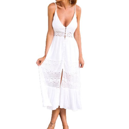 Womens Holiday Sleeveless Ladies Maxi Long Summer Beach Bikini Cover Up - Cat Woman Dress Up
