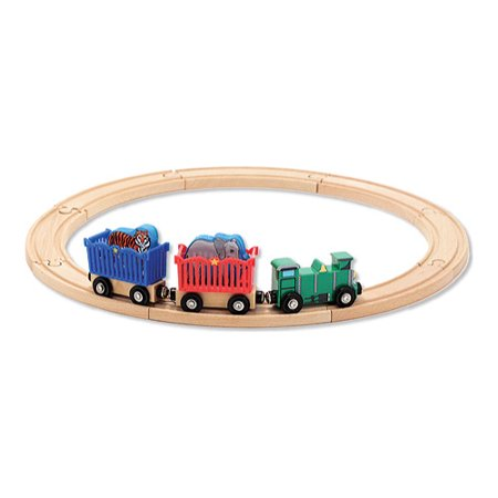 Children's Melissa & Doug Zoo Animal Train Set Zoo Animals OSFA (Melissa And Doug Stacking Train)