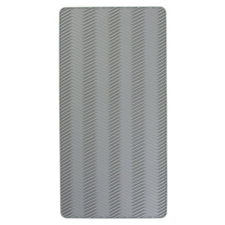 InterDesign Chevron Silicone Heat Resistant Kitchen Countertop Dish Drying Mat - Small, Gray