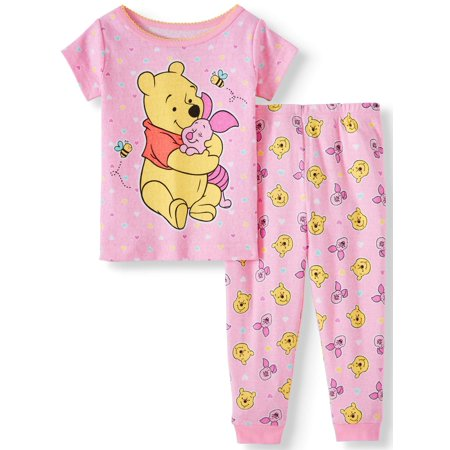 Winnie the Pooh Cotton tight fit pajamas, 2pc set (baby girls) - Winnie The Pooh Outfits