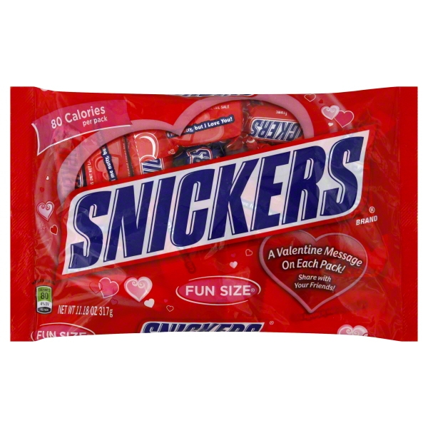 Mars North America Snickers  Candy Bars, 11.18 oz