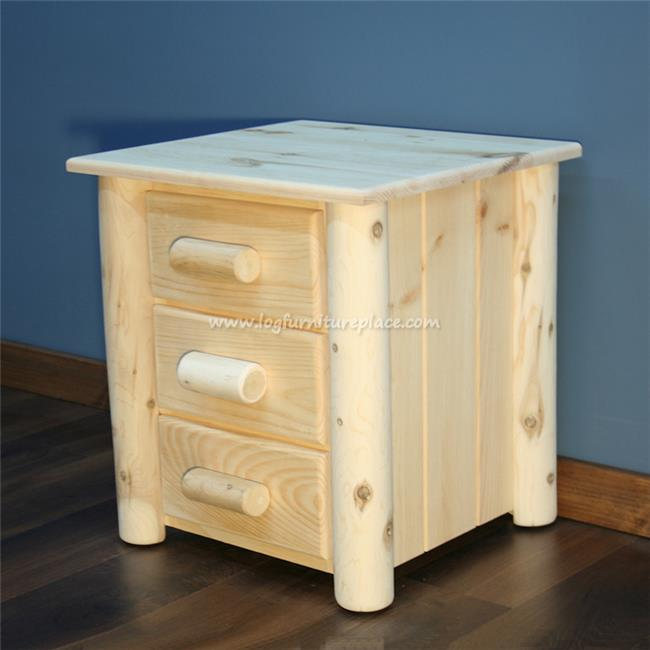 Lakeland Mills HNS3-N Frontier 3 Drawer Nightstand Unfinished by Lakeland Mills