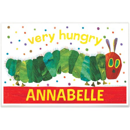 Personalized Very Hungry Caterpillar Hungry Placemat