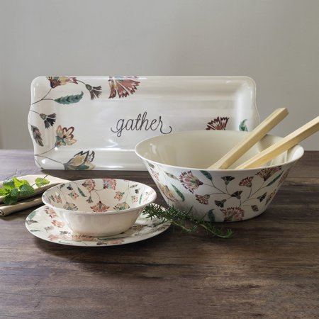 Mainstays Floral Melamine Serve Bowl