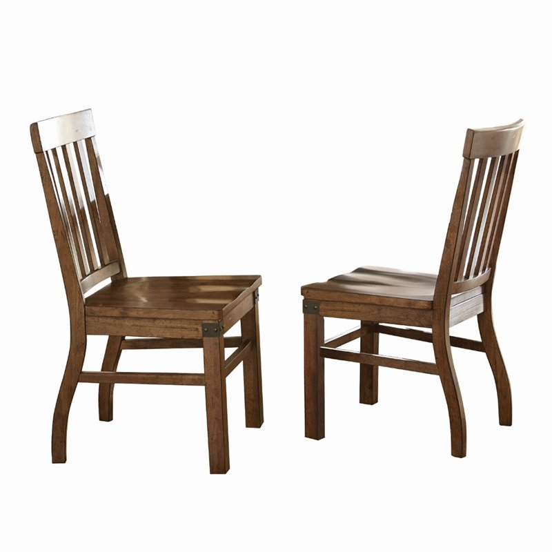 Walmart Dining Chairs: Steve Silver Hailee Dining Chair In Distressed Antique Oak