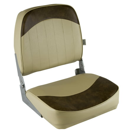 Wise 8WD734PLS-662 Low Back Boat Seat, Sand / Brown