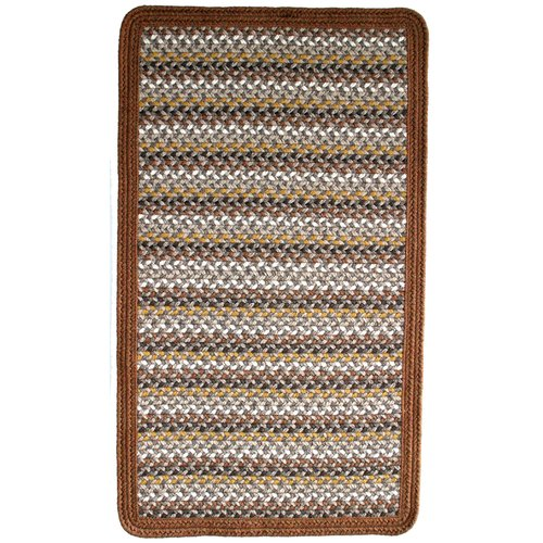 Thorndike Mills Green Mountain Maple Syrup Brown/Tan Striped Area Rug
