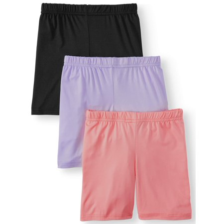Dreamstar Solid Bike Shorts, 3-Pack (Little Girls & Big (Best Bike Shorts For Long Rides)