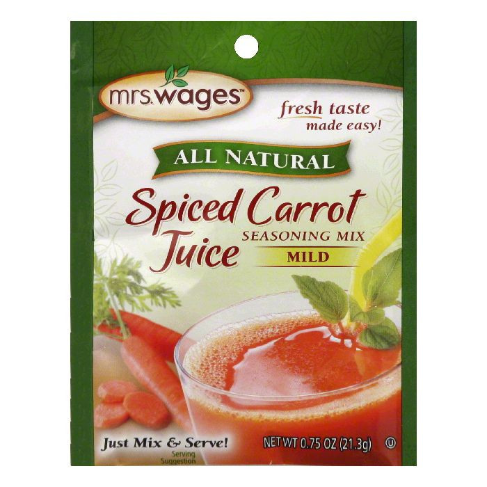 Mrs Wages Mild Spiced Carrot Juice Seasoning Mix, 2.5 Oz (Pack of 12)