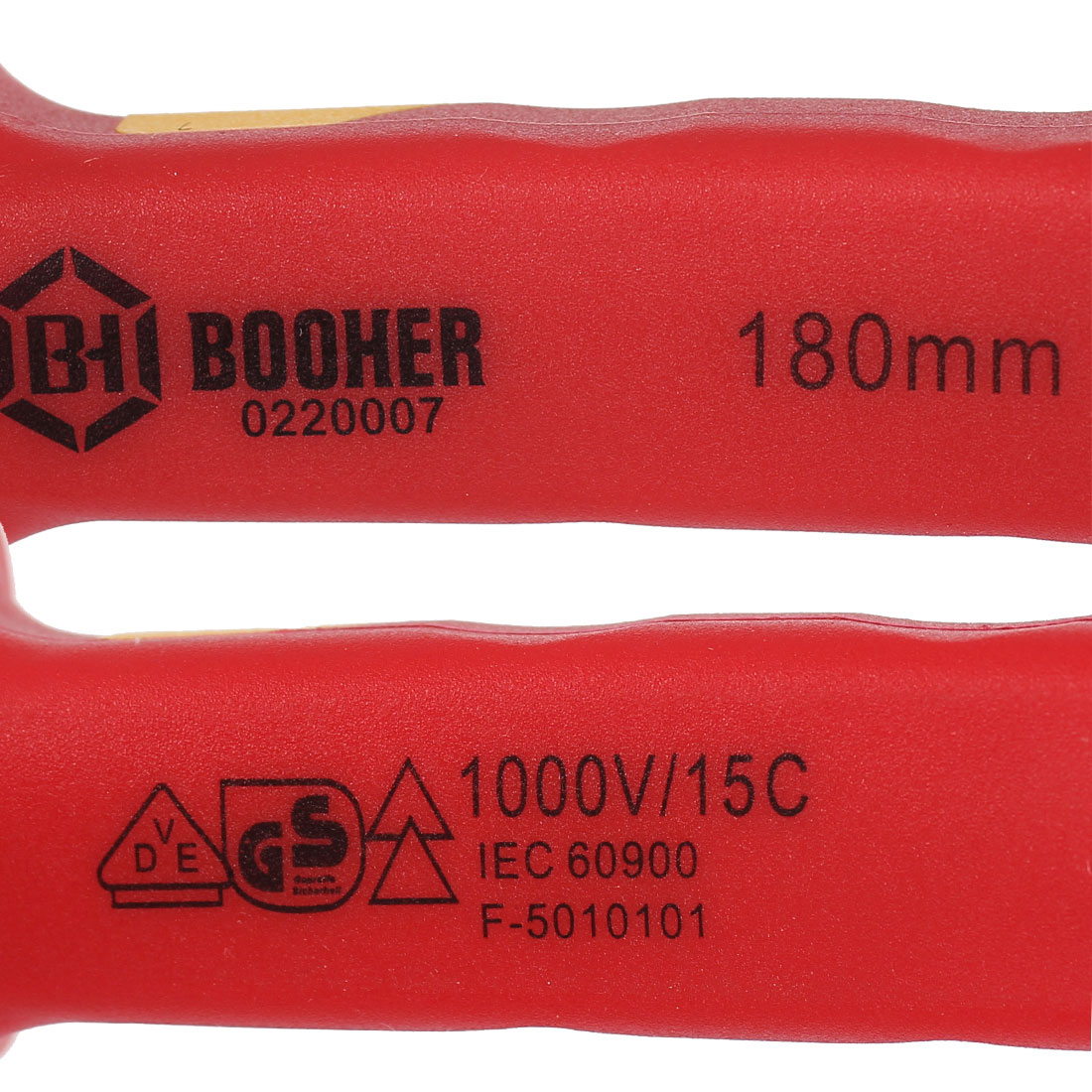 """BOOHER 1000V VDE 7""""(180mm) Length Insulated Combination Pliers - image 2 of 8"""