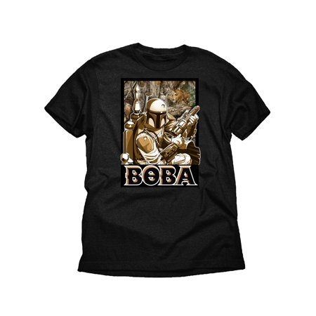 Star Wars Boba Fett Realtree Boys Black Graphic T-Shirt (Boba Fett Birthday)
