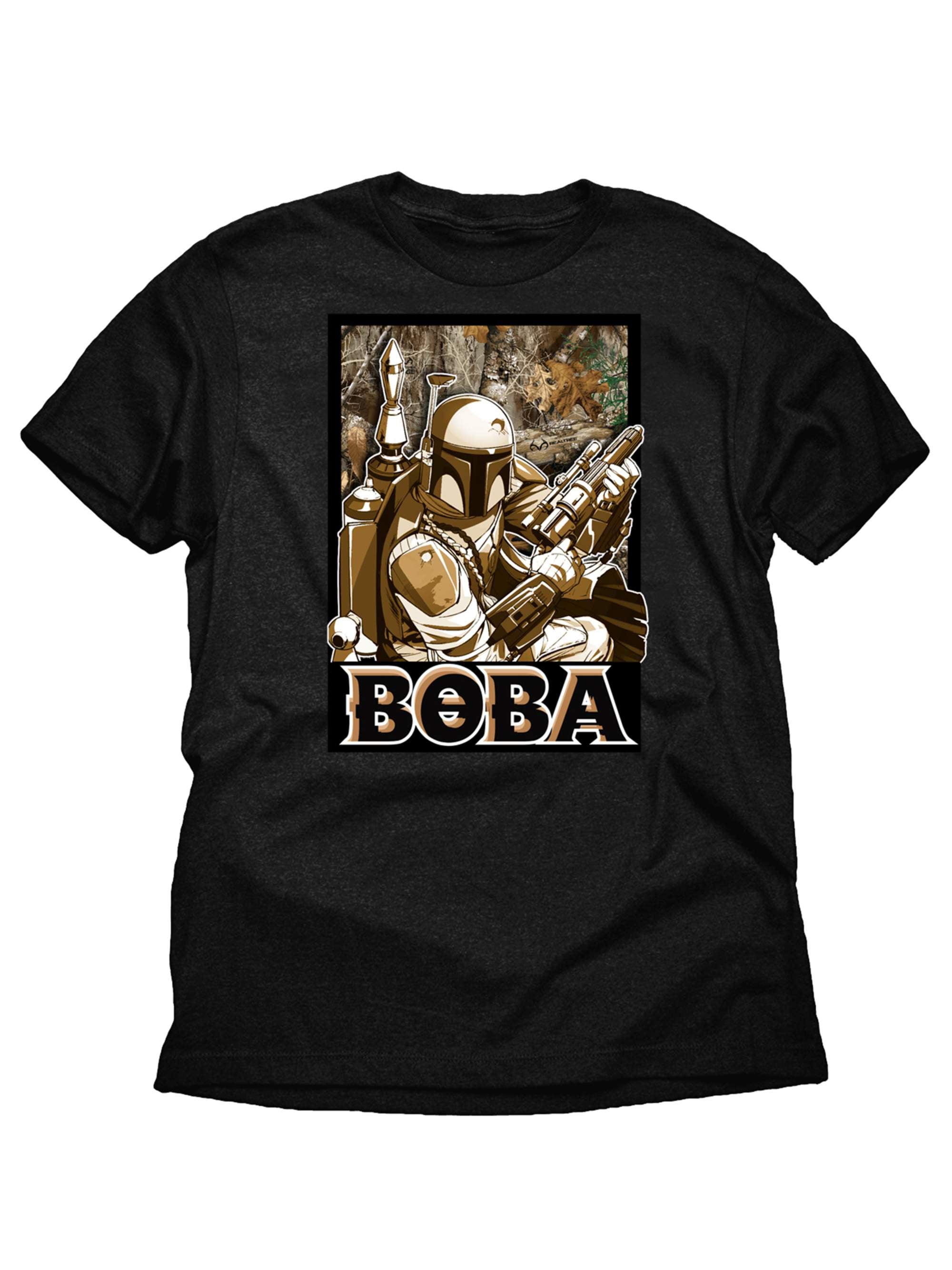 Star Wars Boba Fett Realtree Boys Black Graphic T-Shirt
