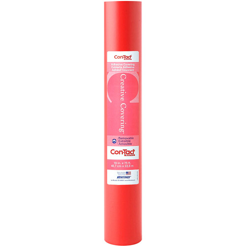 "Con-Tact Creative Covering Multipurpose Shelf Liner, 18"" x 75' Roll, Red"