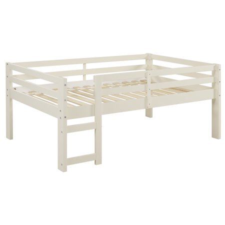 Manor Park Solid Wood Low Loft Bed - White