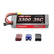 Venom 35C 3S 11.1V 3300mAh Hard Case RC LiPo Battery with Deans Traxxas EC3 Plug