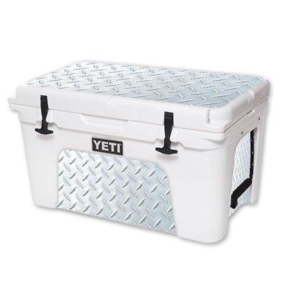 MightySkins Protective Vinyl Skin Decal for YETI Tundra 45 qt Cooler wrap cover sticker skins Diamond Plate - Chest Plate