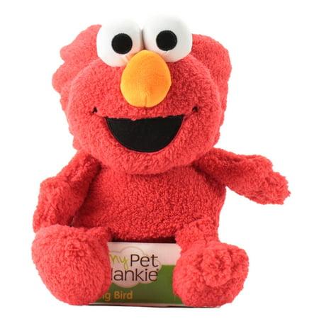 Sesame Street's Elmo My pet blankie Fleece Blankie | Soft & Cuddly Plush Elmo Blankie | 26