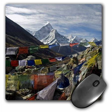 3dRose Prayer flags, Everest Base Camp, Ama Dablam, Nepal - AS26 DNY0022 - David Noyes, Mouse Pad, 8 by 8 inches