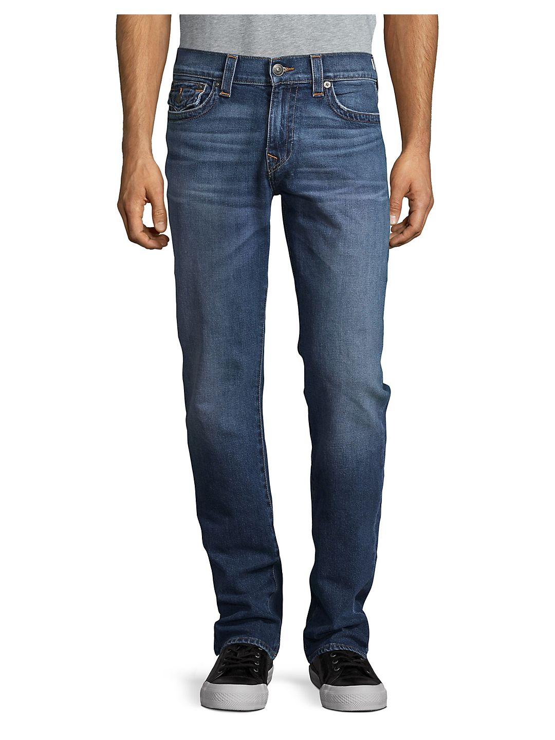 True Religion NEW Blue Mens Size 32 Classic Straight Fit Ricky Jeans