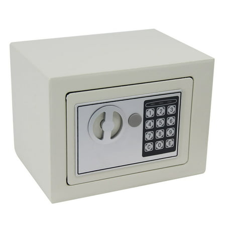 Lowestbest Security Safe Box, Security Safe Lock Boxes with Digital Keypad, Digital Safe Security Boxs and Safes to Protect Money, Jewelry, Passports for Home, Business or Travel, White ()