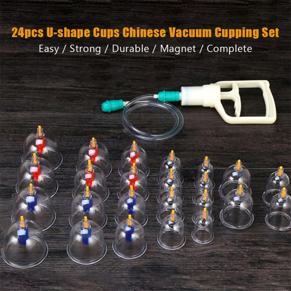 24pcs U-shape Cups Chinese Vacuum Cupping Set Massage Therapy Suction Acupuncture, Chinese Vacuum Cupping Set,Cupping Set,Vacuum Cupping Set