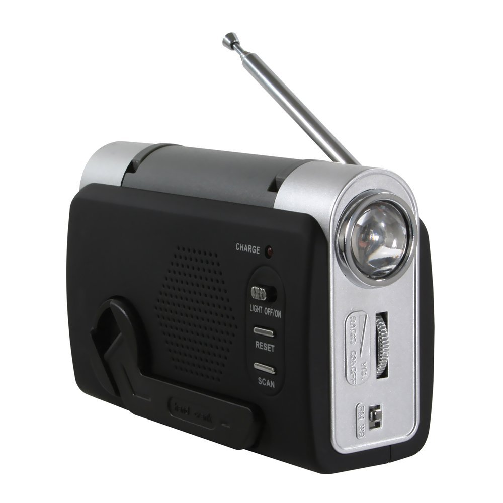 Click here to buy Sportsman Hand-Crank Emergency Radio, Includes a female USB adaptor to charge your smartphone By Buffalo Tools Ship from US by Buffalo Tools.