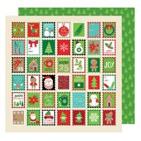American Crafts All Wrapped Up Collection Christmas 12 X 12 Double Sided Paper Holiday Greetings