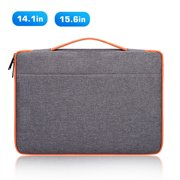"TSV 14-15.6 Inch Laptop Sleeve Case Protective Bag, Ultrabook Notebook Carrying Case Handbag fits for 14"" 15"" 15.6"" MacBook Pro, Dell, Lenovo, HP, Asus, Samsung, Sony, Chromebook Computer - Dark Grey"