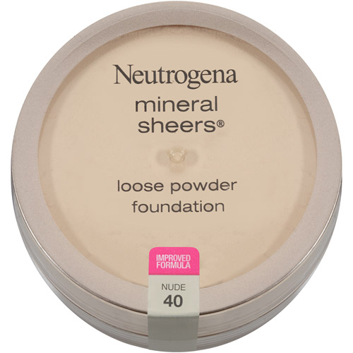 Neutrogena Mineral Sheers Loose Powder Foundation SPF 20, Nude 40, 0.19 oz