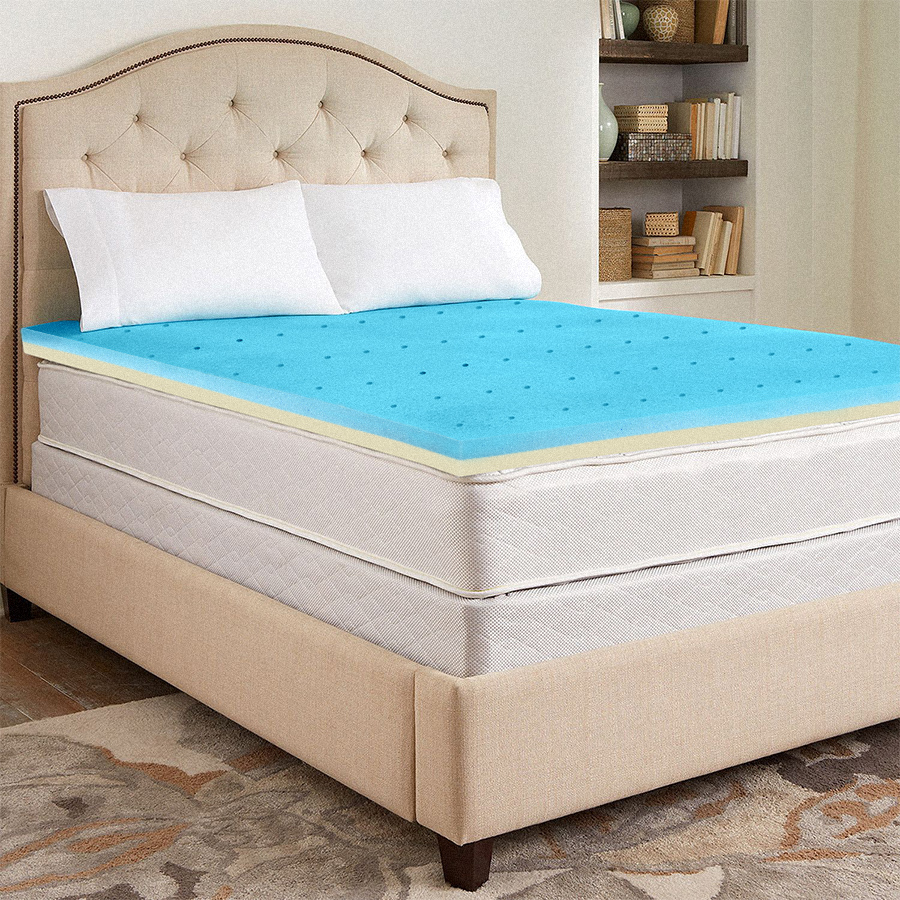 Continental Sleep, High Density Foam Mattress Topper , Twin