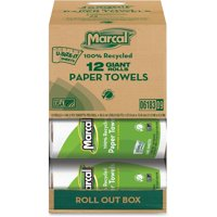 Marcal, MRC06183, Giant Paper Towel in a Roll Out Carton, 12 / Carton, White