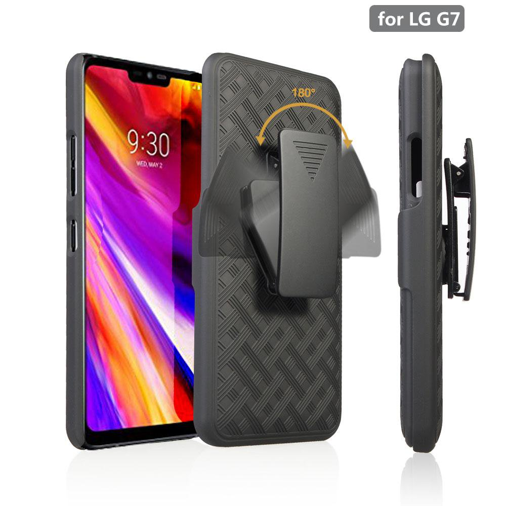 huge discount ec11f 71bad LG G7 ThinQ Case, G710AWM Case,LG G7 ThinQ Case with Clip, Rugged Slim  Swivel Locking Belt Clip Holster Shell Combo Kickstand Phone Case for LG G7  ...