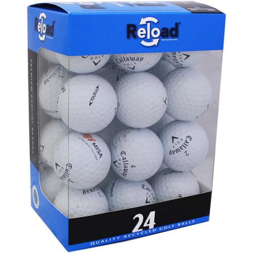 Reload Recycled Golf Balls 24pk Recycled Tour IX Golf Balls