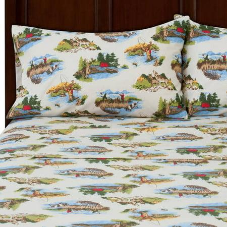 Mainstays Flannel Bedding Sheet Set Walmart Com