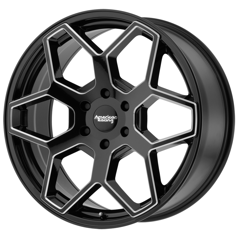 "20"" Inch 20x8.5 AR916 6x139.7(6x5.5"") +15mm Black/Milled Wheel Rim"