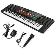 Costway 54 Keys Music Electronic Keyboard Kid Electric Piano Organ W/Mic & Adapter