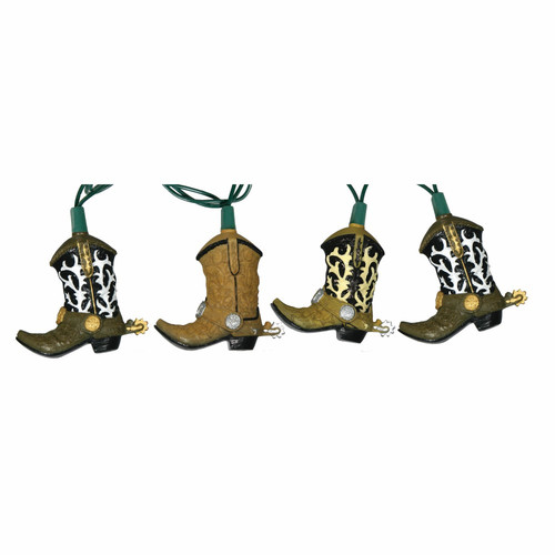 Rivers Edge Products Cowboy Boot 10-Light Party Light Set