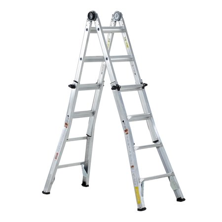 Cosco 18 Foot Max Reach Aluminum Articulating Multi-Position Ladder
