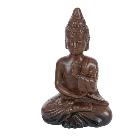 - Decmode Eclectic 12 inch ceramic meditating Buddha sculpture, Brown