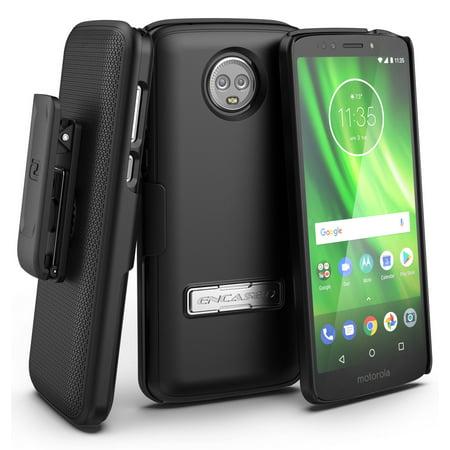- Encased Belt Clip Case for Moto Z3 Play, Slimline Series (Ultra Slim) Holster Shell Combo with Reinforced Alloy Kickstan