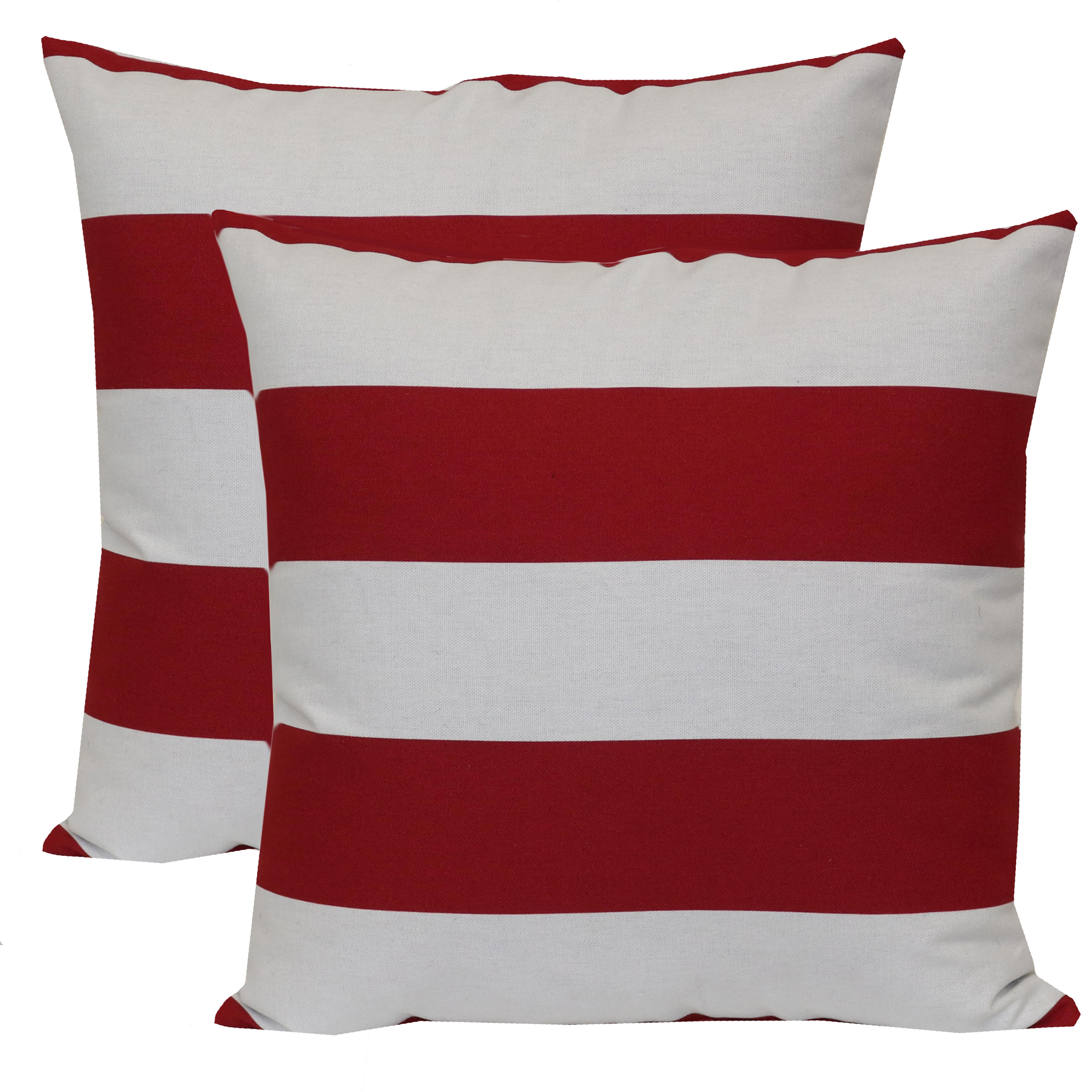 Mainstays Balboa Stripe Outdoor Toss Pillow - Set of 2