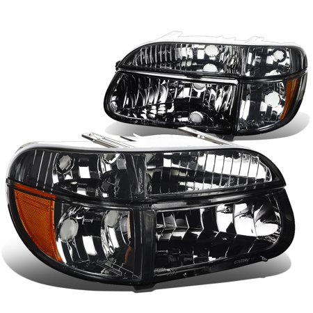 1995 Ford Explorer Brake - For 1995 to 2001 Ford Explorer / 97 Mercury Mountaineer Pair of Smoked Housing Amber Corner Headlight Headlamp 96 98 99 00 Left+Right